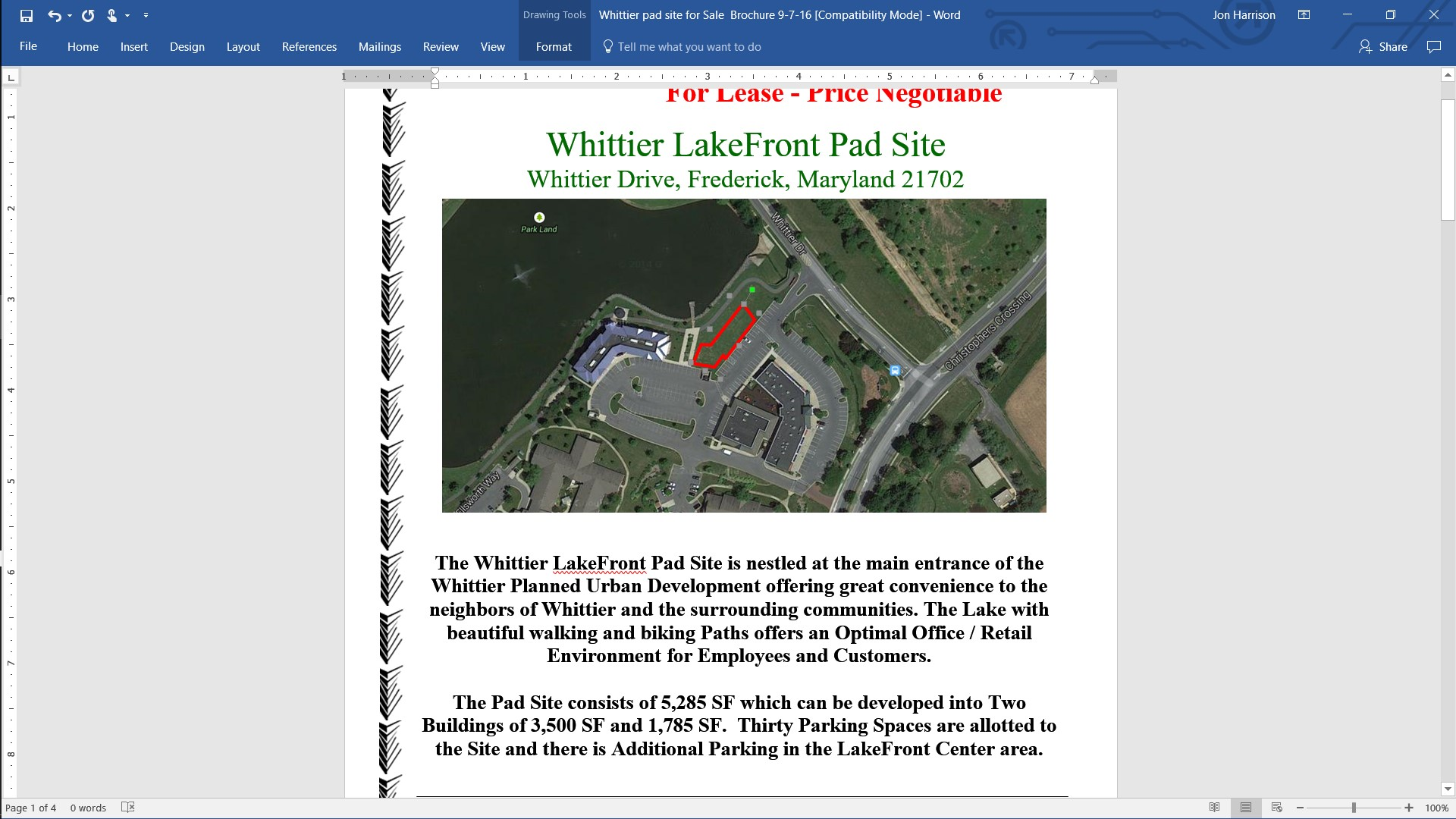 whittier pad site